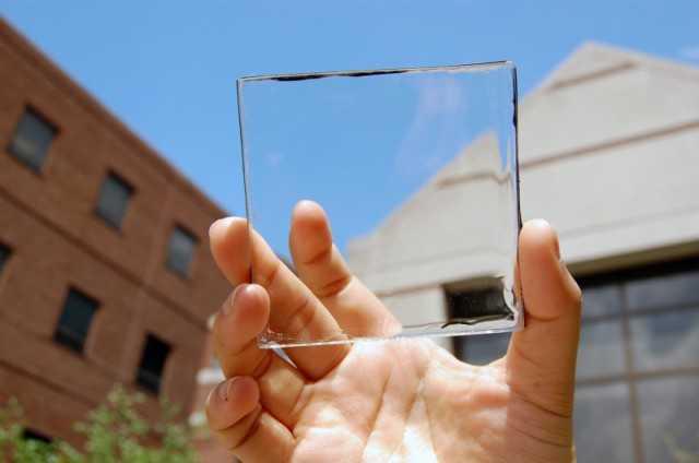 Прозрачная солнечная батарея