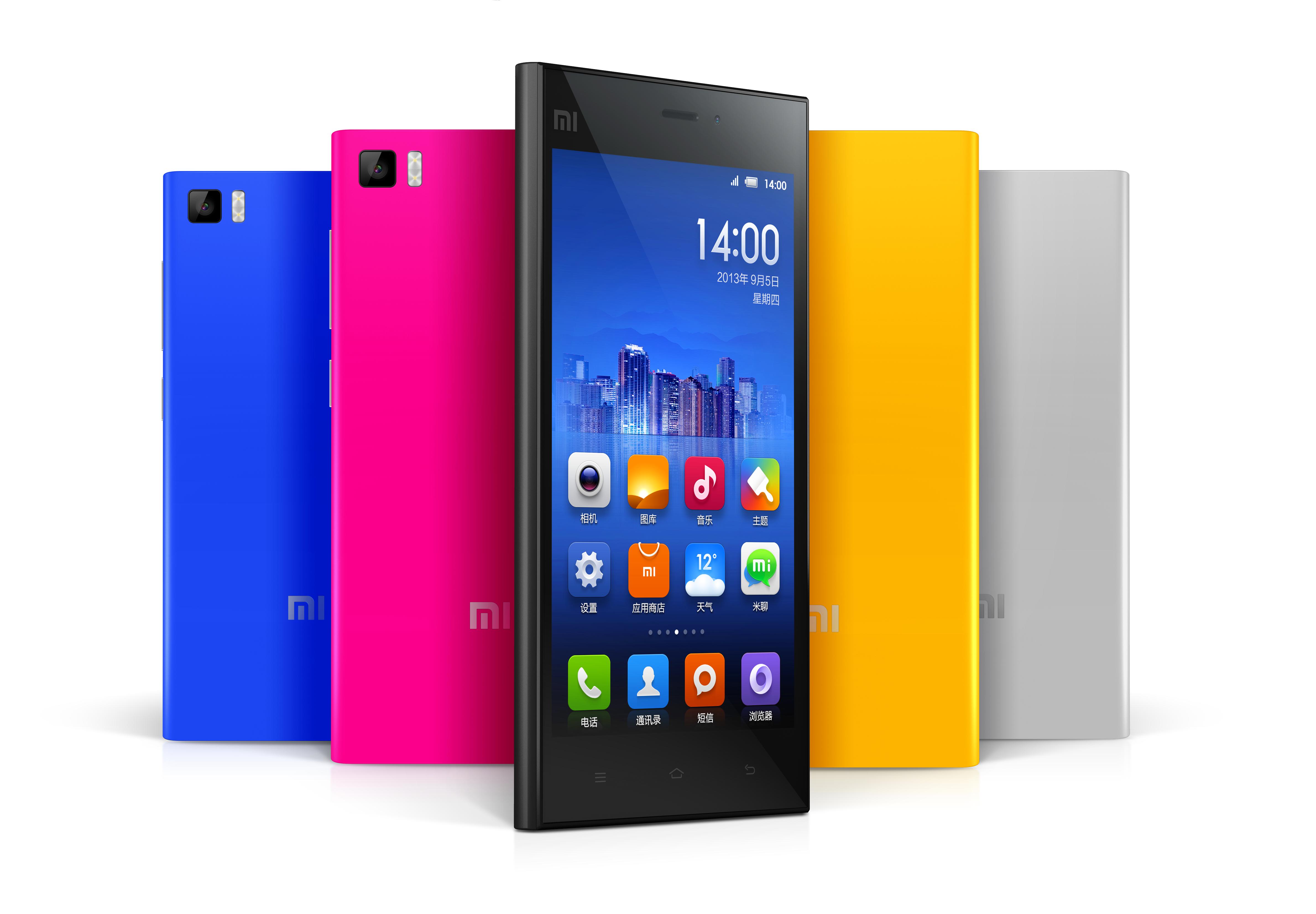 Xiaomi Mi3 цвета