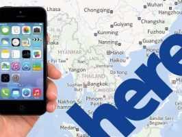 картографический сервис Nokia
