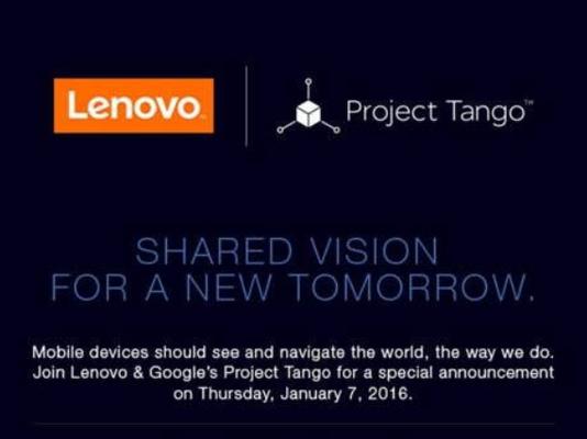 Lenovo и Google вспомнили о Project Tango