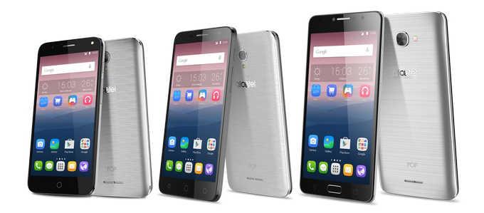 Представлены три смартфона серии Alcatel OneTouch POP 4