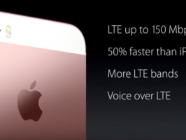 Слайд с презентации iPhone SE