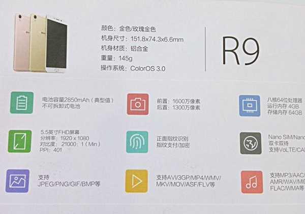 Стали известны подробные характеристики Oppo R9 и R9 Plus
