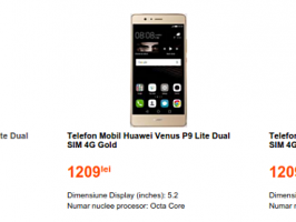 Huawei P9 Lite замечен на сайте румынского ритейлера