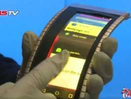 В Китае продемонстрирован гибкий смартфон