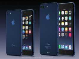 Синий iPhone 7