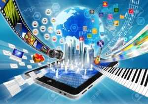 16568208-Conceptual-image-about-how-a-smartphone-or-a-tablet-computer-with-internet-open-a-virtual-door-to-wo-Stock-Photo