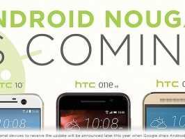 HTC 10, One M9 и One A9 получат обновление до Android N Nougat