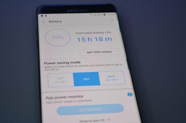 Режим энергосбережения в Samsung Galaxy Note 7