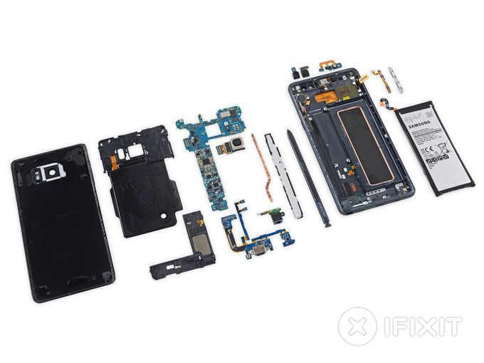 Разобранный Samsung Galaxy Note 7