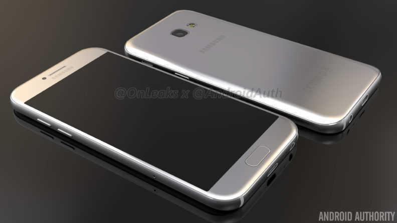 Рендер Samsung Galaxy A5 (2017) SM-A520