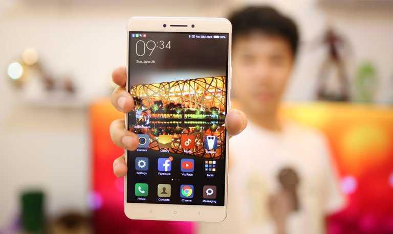Xiaomi Mi Max в руке