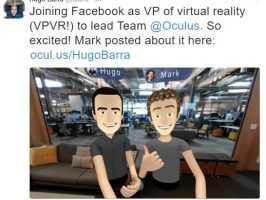 Уго Барра станет вице-президентом Facebook по виртуальной реальности