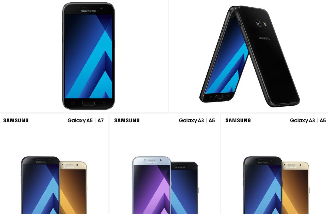 Samsung официально представила характеристики новинок Galaxy A3, A5 и A7 (2017)
