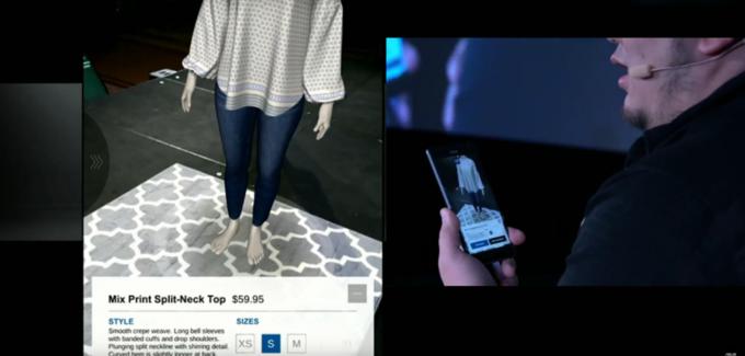 Google Tango вместе с GAP создали приложение для виртуальной примерки вещей