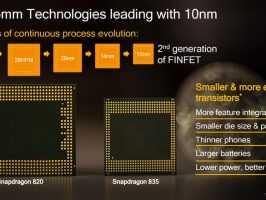 В чипсет Snapdragon 835 входит восьмиядерный процессор, Adreno 540 и Quick Charge 4.0