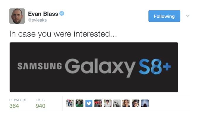 Большую версию Galaxy S8 назовут Samsung Galaxy S8+