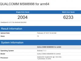 По результатам тестов производительность Snapdragon 835 для Samsung Galaxy S8 будет не хуже, чем у Galaxy S7