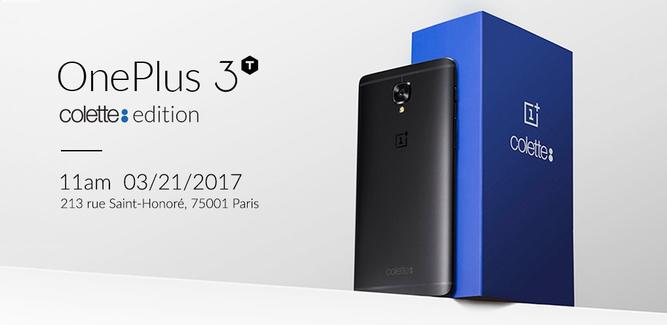 Официально представили OnePlus 3T Colette: черный цвет и 128 Гб флэш-памяти