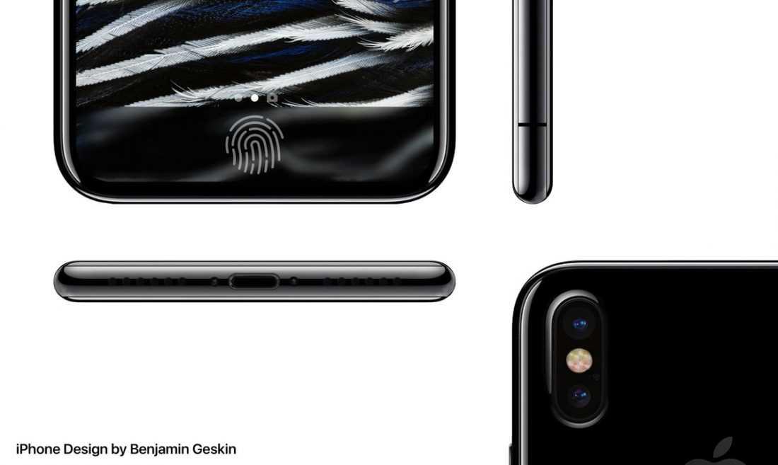 На макете предполагаемого Apple iPhone 8 вертикальная двойная камера