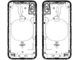 На еще одной схеме Apple iPhone 8 сзади нет сканера отпечатка пальцев