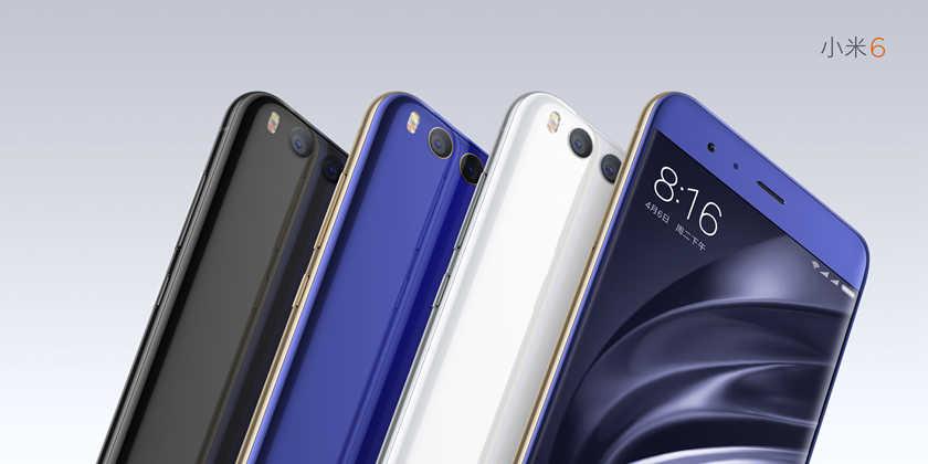 Официально представлен Xiaomi Mi6 в синем, серебряном и черном цветах