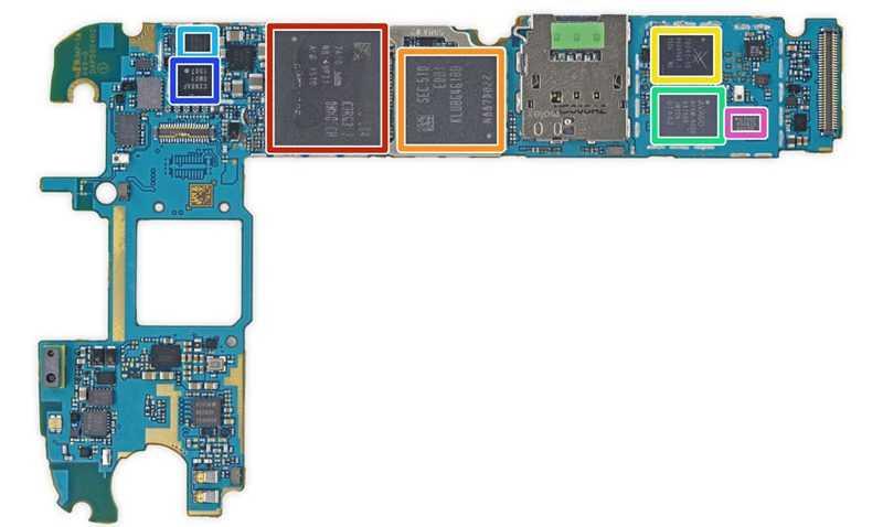 ОЗУ на плате Samsung Galaxy S6