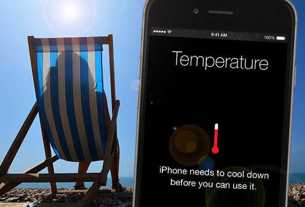 Перегрев смартфона на солнце