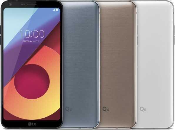 Цвета LG Q6