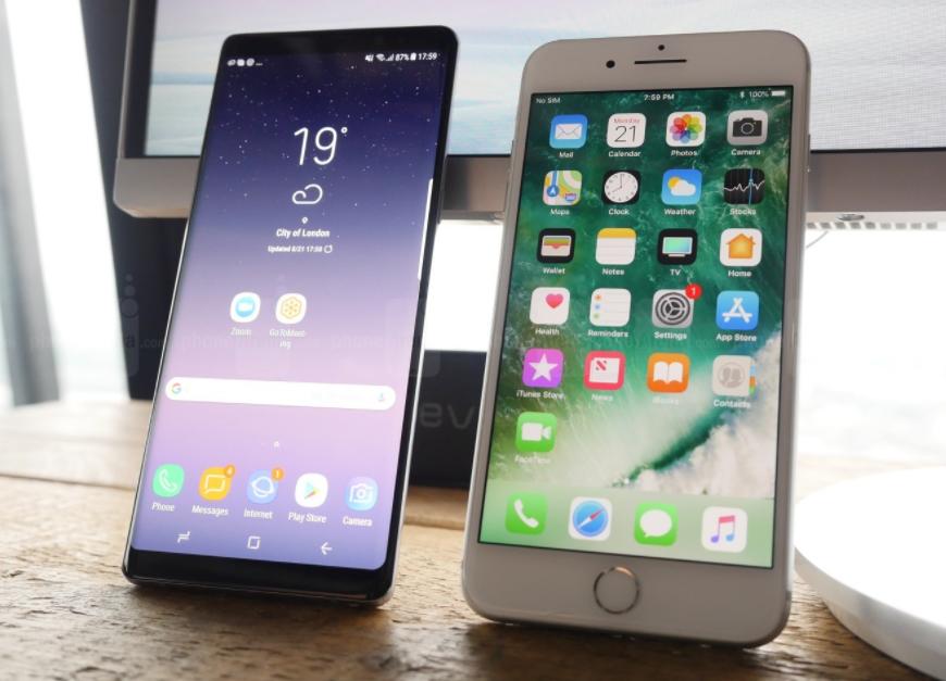 Galaxy Note 8 vs Phone 7 Plus