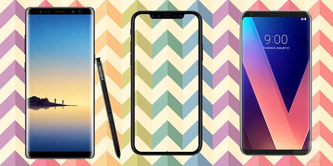 Сравнение характеристик Apple iPhone X с Samsung Galaxy Note 8 и LG V30