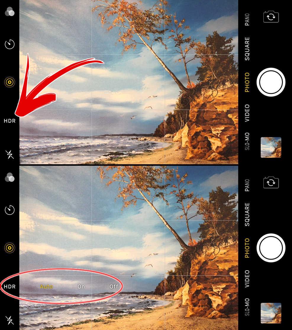 Как самостоятельно запустить HDR-съемку на камерах iPhone 8, 8 Plus и iPhone X