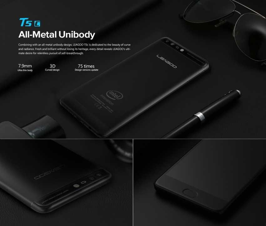 Характеристики Leagoo T5c смартфон на базе Spreadtrum SC9853i